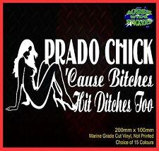 LANDCRUISER PRADO 4x4 CHICK Cute Sexy Girls Mum Car Funny Stickers 200mm