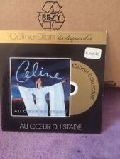 CD ALBUM CARTONNE CELINE DION LES DISQUES D'OR AU COEUR DU STADE