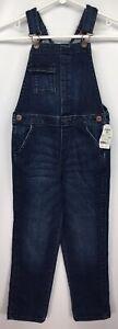 New OshKosh Denim Blue Jean Overalls Youth 6X Boys Girls Vestbak Button Pocket