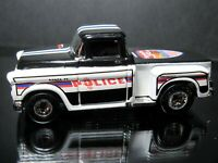 BLACK/WHITE 1956 56 CHEVY TRUCK POLICE COP RODS LOOSE HOT WHEELS 1/64 CAR
