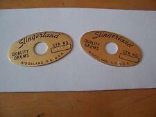 Slingerland Lite Logo Badge Set - NOS!
