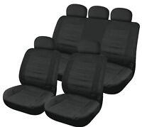Sumex Universal 12pc Foam Microfibre Car Seat Covers Full Set - Black California