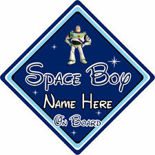 Personalised Disney Space Boy On Board Car Sign - Toy Story Buzz Lightyear DB