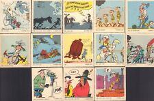 13x RARE CARDS LUCKY LUKE - MORRIS / MONTY GUM 1970 NEDERLAND