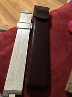 Vintage Frederick Post Versalog 1460 Slide Rule & Leather Case with Belt Loop