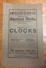 Thin brown paper replacement spare part instructions American Clock Co
