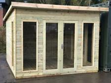 10x6 Pent Contemporary Summer house Heavy Duty Garden Office Shed T&G Tanalised