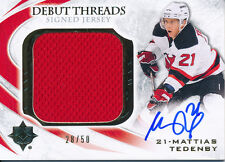 2010/11 Ultimate Collection Mattias Tedenby Debut Threads Jersey HARD SIGNED