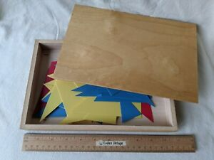 Nienhuis Montessori Holland Vtg Home School Toy Detective Adjective Exercise