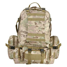 55L Outdoor Military Molle Tactical Backpack Rucksack Camping Bag Hiking CAMO