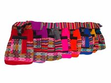 600 Woven Peru Manta Back Pack 9x8x5 Cotton Artisan Fair Trade Assorted Colors