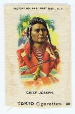 Chief Joseph Indian Portraits Native American S67 cigarette silk 204