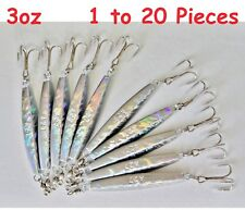 Diamond Jig 3oz Holographic Laser Saltwater Lures w/ Treble Hook Select qty