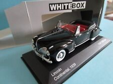 WHITE BOX LINCOLN CONTINENTAL CABRIOLET 1939  NOIRE 1/43 MIB