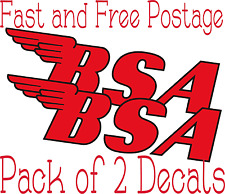 BSA Motorcycle Sticker Classic Retro Decals Vintage Classic Motorbike Qty 2