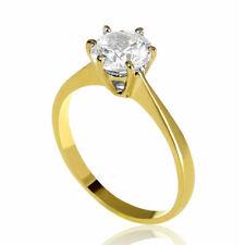 1/2 Carat Classic Round Enhanced Diamond Engagement Ring H/VS2 14K Yellow Gold