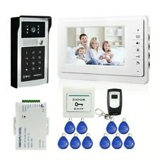 "Wired 7"" Video Door Phone Doorbell Intercom Entry System + IR RFID Code Keypad"