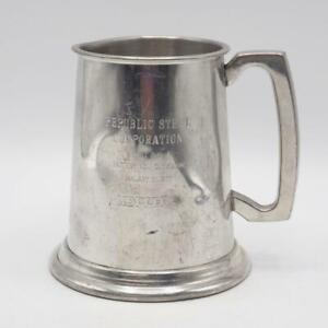Vintage Koppers Republic Steel Corporation First Push 1977 Pewter Mug Stein
