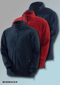 KORSAR Fleecejacke Energy Arbeitsjacke Outdoorjacke in schwarz rot navy L - 5XL