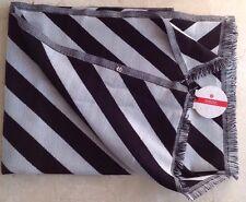 LULULEMON Pranayama Scarf Wrap Black/Nimbus Stripe Merino Wool NWT