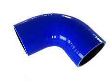 """Blue 2.5"""" to 3"""" Silicone 90 Degree Elbow Reducer Intercooler Coupler Hose Turbo"""