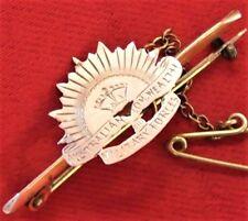 WW1 ERA AUSTRALIAN ARMY GOLD ANZAC RISING SUN SWEET HEART BADGE MEDAL*AIF