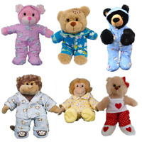 PYJAMAS PJ OUTFIT FITS 8 inch /20cm TEDDY BEAR CLOTHES - red,pink,yellow