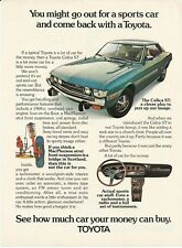 1973 Toyota Celica ST Color Photo Vintage Print Ad Advertisement