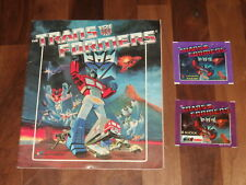 Transformers 1986 Complete Panini Sticker Album and Transformers Panini packets