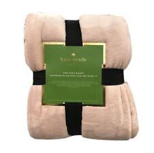 Kate Spade New York King Fleece Blanket - Baby Pink Color