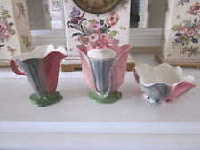 GORGEOUS SET OF SHORTER & SON FLOWER SHAPED SUGAR BOWL, CREAMER AND PRESERVE POT