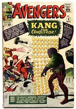 AVENGERS #8 comic book -First appearance of Kang. 1964. Marvel Silver-Age.