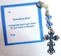 Something Blue Intertwined Hearts Personalised Bridal Bouquet Clip On Charm