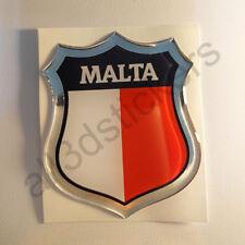 Pegatina Malta 3D Escudo Emblema Vinilo Adhesivo Resina Relieve Coche Moto