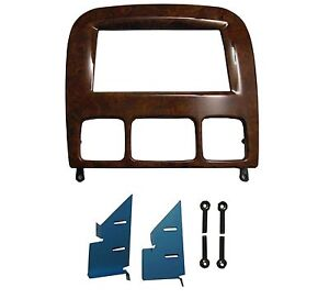 Double Din Dash Kit for Mercedes Benz S class W220 wooden color Adapter CD Trim