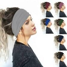 VAMEI 4 Pack Headbands for Women Wide Headband Knot Head Wrap Vintage Hairband Printed Turban Headband Women Twist Elastic Hairband Girls B
