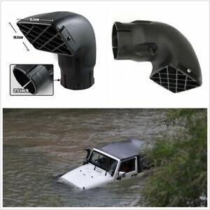 Off Road Truck 3.5'' Snorkel Head Air Filter Drain Slots & Stainless Steel Screw