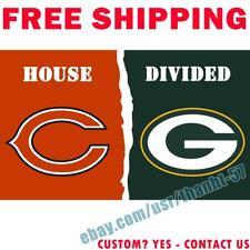 Chicago Bears vs Green Bay Packers House Divided Flag Banner 3x5 ft 2021 NEW