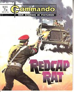 COMMANDO COMIC - No 925   REDCAP RAT
