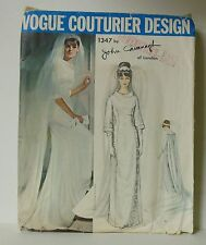 Hollywood Glamour 1960s Vogue Couturier Wedding Gown Dress Complete PATTERN 14