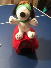 Peanuts Plush Holiday Ace Pilot SNOOPY Flaps Ears & Plays What I Like About You