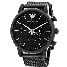** NEW **Emporio Armani® watch AR1968 , BLACK , Mens CHRONOGRAPH , Mesh Strap