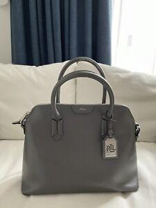 Ralph Lauren Grey Leather Medium Bag
