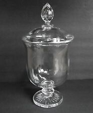 "Large Signed Baccarat French Crystal Covered Urn 13"" by 6.5"""