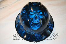 MSA V-Gard (Full Brim) Hard Hat W/Fas-Trac Ratchet OSHA/CSA   BLUE LARGE HADES