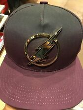 Marvel Comics THE FLASH Rubber Emblem SnapBack Hat. NWT. One Size Fits All