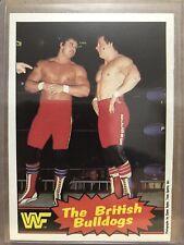1985 OPC Titan Sports WWF Wrestling Card #6 The Brittish Bulldogs