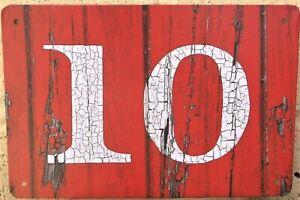 10 door number metal signs retro vintage cafe garage tin plate home kitchen