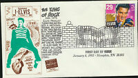 2721 Elvis Presley FDC LRC Cachet Fancy memphis Music Cachet 1993 Unadd LOT 799