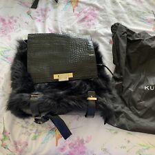 Gorgeous Kurt geiger Black Genuine Sheepskin Leather Backpack. Limited Edition.